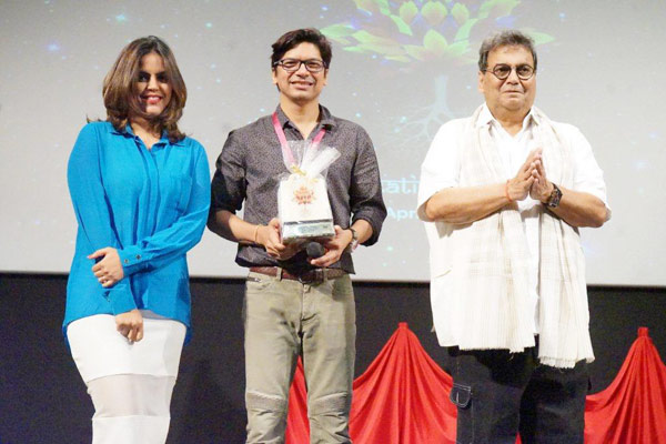 Meghna Ghai Puri, Shaan and Subash Ghai at 5th Veda- WWI