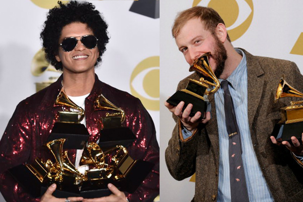 Justin Vernon Is Not Happy About Bruno Mars Sweeping The Grammys