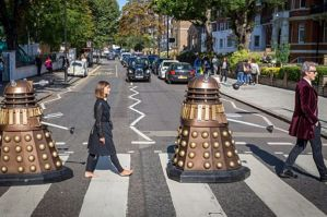 Hit TV series 'Doctor Who' rocks out at The Beatles' Abbey Road crossing