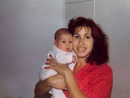 Amy in her early days with Mom- Janis