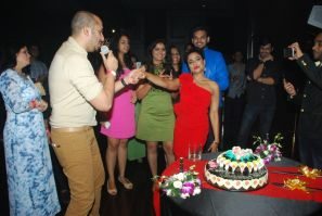 Ali Quli Mirza and RJ malishka Celebrating 10th anniversary of malishka at Kitty Su, The Lalit