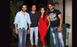 (From left) Shekhar Ravjiani, Shaan, Neeti Mohan and Jay Bhanushali at the special screening of the grand premiere of &TV's The Voice India Kids