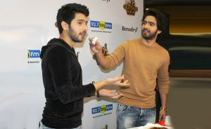 Candid shot of Malik Brothers at 92.7 BIG FM's Benadryl BIG Golden Voice Season 4 announcement