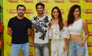 'M.S. Dhoni' team at Radio Mirchi studio