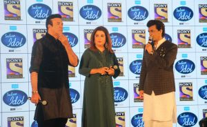 Anu Malik, Farah Khan and Sonu Nigam
