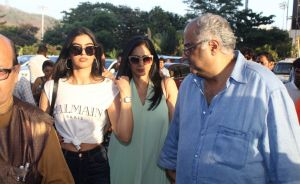 Actress Sridevi with her daughter Khushi and filmmaker Boney Kapoor