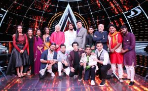 Indian idol contestants with team Paltan