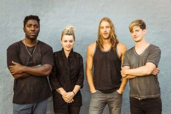 From left Kele Okereke, Louise Bartle, Justin Harris, Russell Lissack