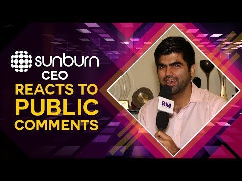 Sunburn CEO Karan Singh reacts to public comments!