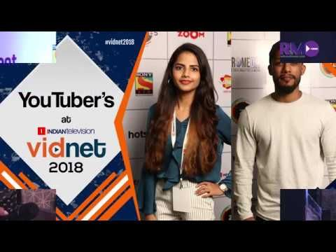 Popular YouTuber's  Dino James  and Ritu Agarwal at Vidnet 2018