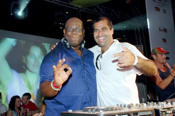 Shailendra Singh and Carl Cox at Sunburn 2007