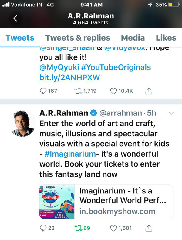 Conceptualised And Curated By Sony Music Rob Produced BookMyShow The Limited Shows Of Imaginarium Its A Wonderful World Will First Be