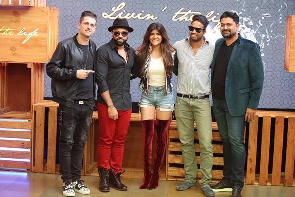 (Image: L-R: Anze Skrube (choreographer), Jim Beanz (music producer), Ananya Birla, Rock Jacobs (music director), Devraj Sanyal (UMI))