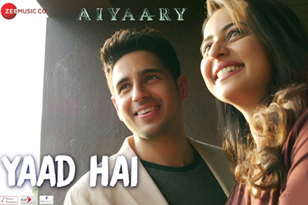 'Aiyaary's' soulful song 'Yaad Hai' is a heartfelt representation of a remembrance