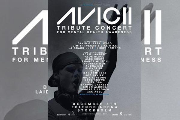 Avicii's Tribute Concert to promote mental health awareness