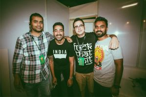 L-R: Vijay Nair, Nucleya (Udyan Sagar), Tej Brar, Rahul Sinha