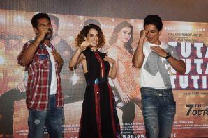 Prabhu Deva,Kangana anaut, Sonu Sood at the song launch of Tutak Tutak Tutiya