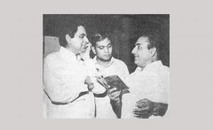 Rafi with Dilip Kumar