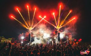 An emotional moment during final act of Vh1 Supersonic Day 1 by Eric Prydz
