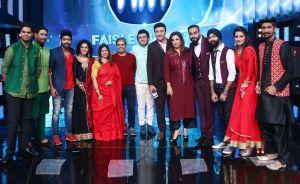 Rangoon team on sets of Indian Idol 9