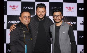 Narendra Hirani, DJ Akhtar and DJ Hardik at DJ Akhtar & DJ Hardik's gig at 1Above
