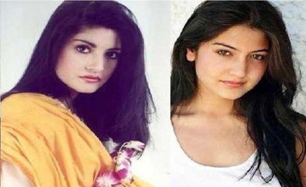 Singer Nazia Hassan and Bollywood actress Anushka Sharma