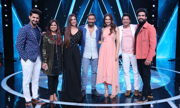 Ravi Dubey, Richa Sharma, Tabu, Ajay Devgn, Rakul Preet, Shaan and Amaal Mallik on Sa Re Ga Ma Pa Li'l Champs