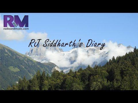 RJ Siddharth's diary